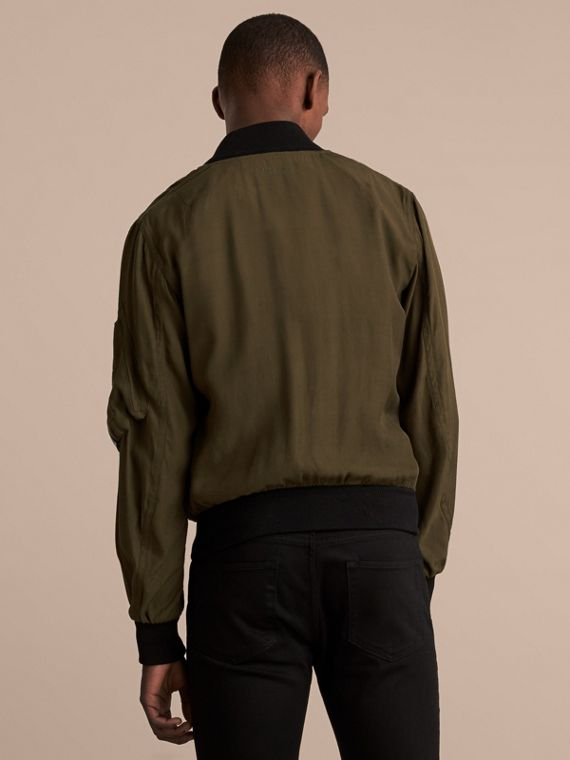 Technical Twill Bomber Jacket - Men | Burberry Australia - cell image 2