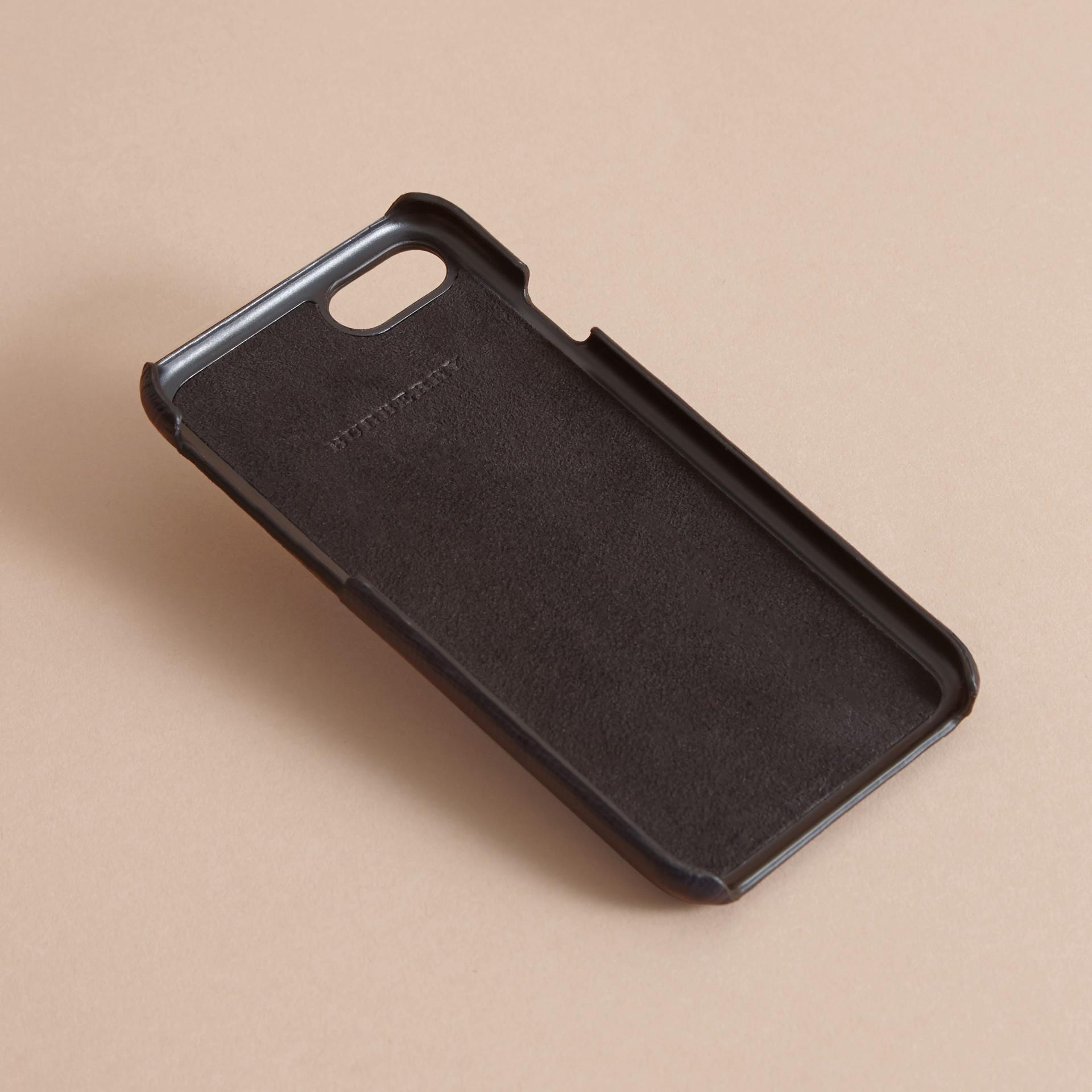 Grainy Leather iPhone 7 Case Dark Navy - gallery image 4