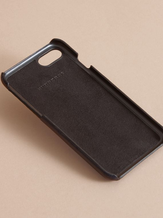 Grainy Leather iPhone 7 Case Dark Navy - cell image 3