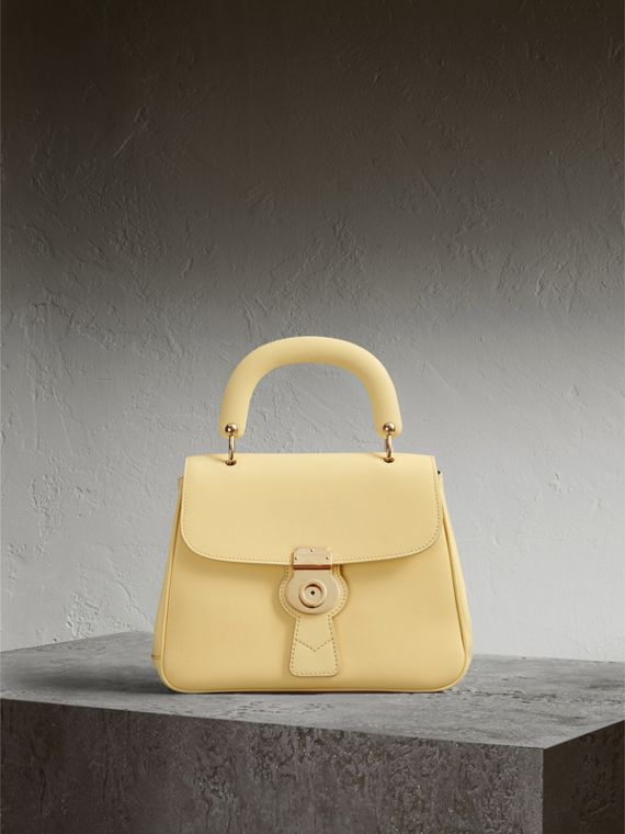 The Medium DK88 Top Handle Bag in Camomile Yellow - Women | Burberry Australia