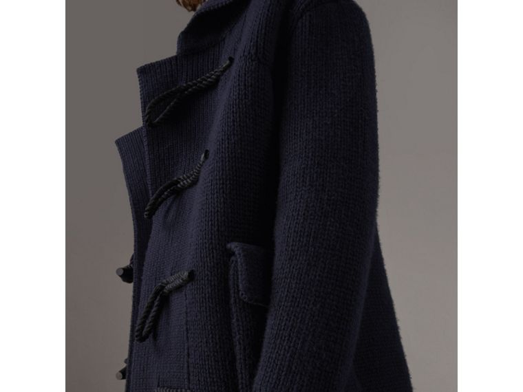 Knitted Wool Cashmere Blend Jacket in Navy - Men | Burberry Australia - cell image 1