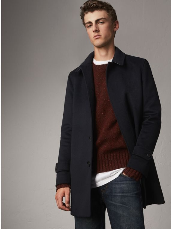 Cappotto car coat in lana e cashmere - Uomo | Burberry