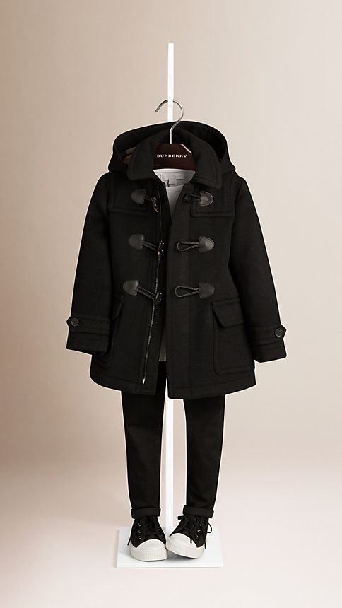 Black Wool Duffle Coat - Image 2