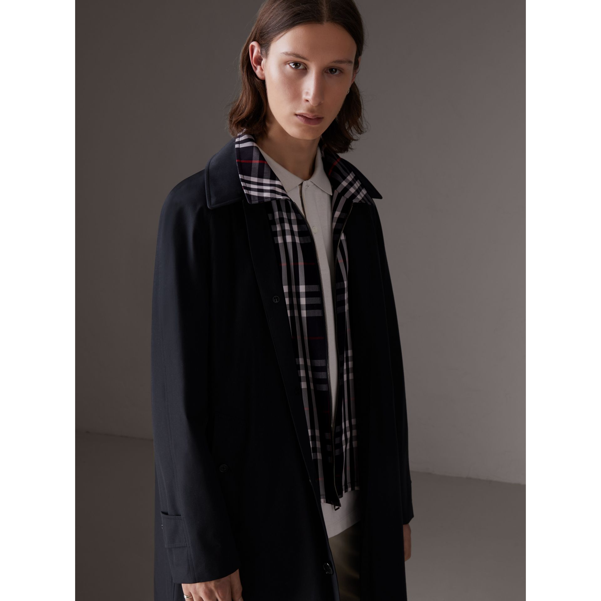 Gosha x Burberry Reconstructed Car Coat in Navy | Burberry - gallery image 2