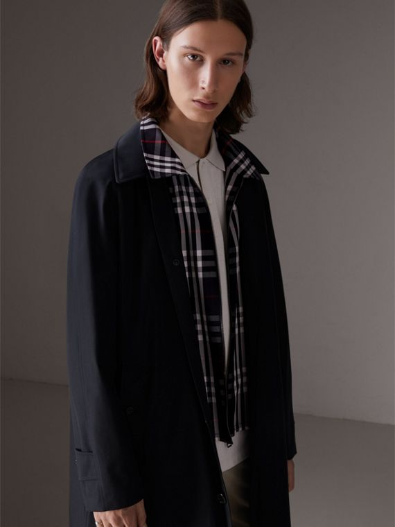 Gosha x Burberry Reconstructed Car Coat in Navy | Burberry - cell image 2