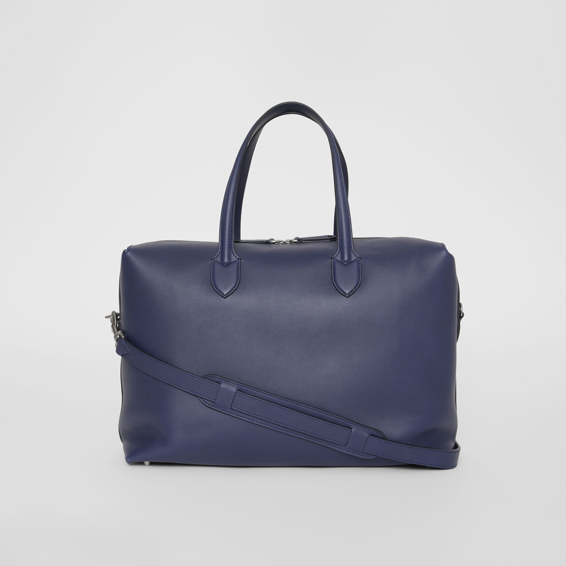 Soft Leather Holdall in Regency Blue - Men | Burberry - gallery image 6