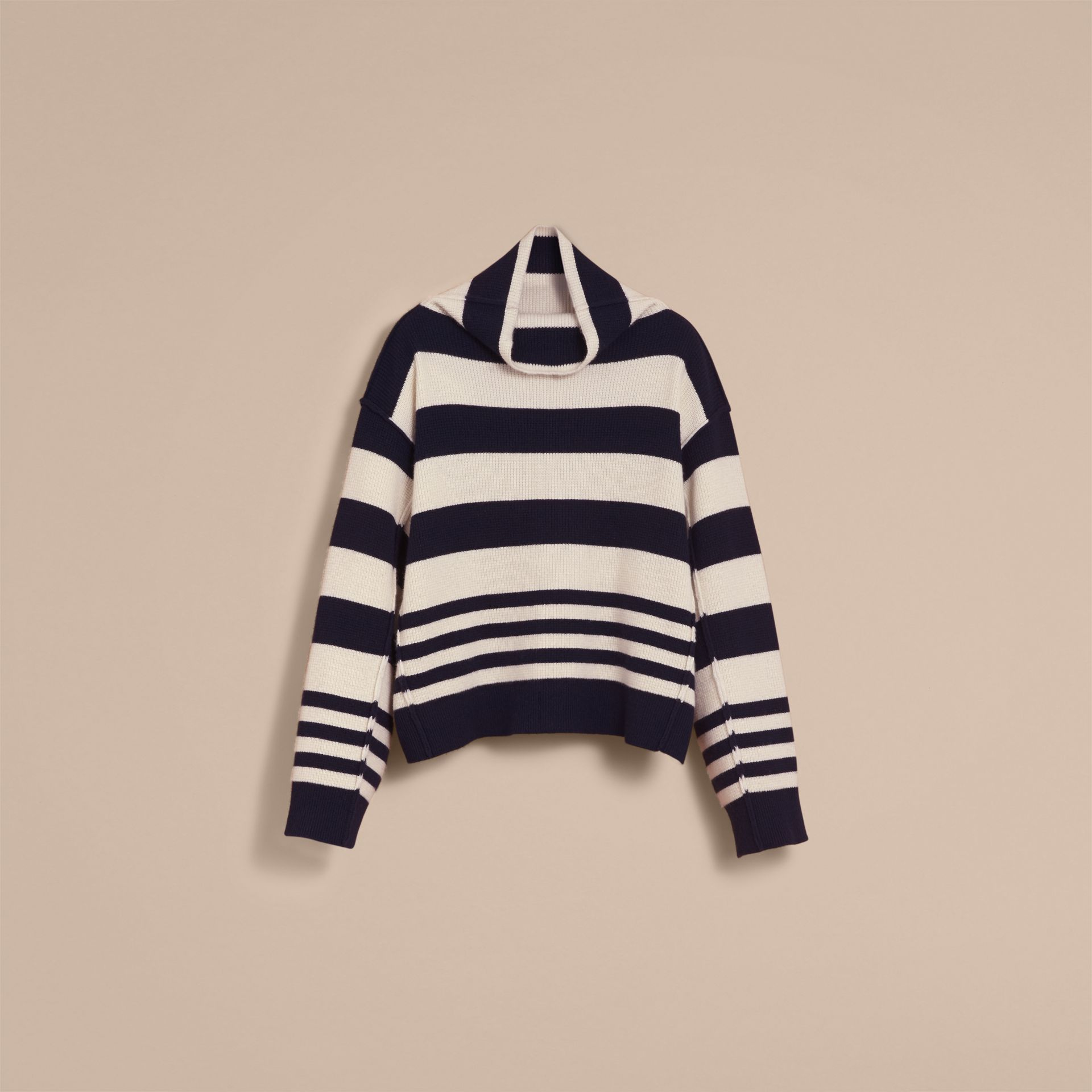 Striped Knitted Cashmere Roll-neck Sweater - Men | Burberry - gallery image 4