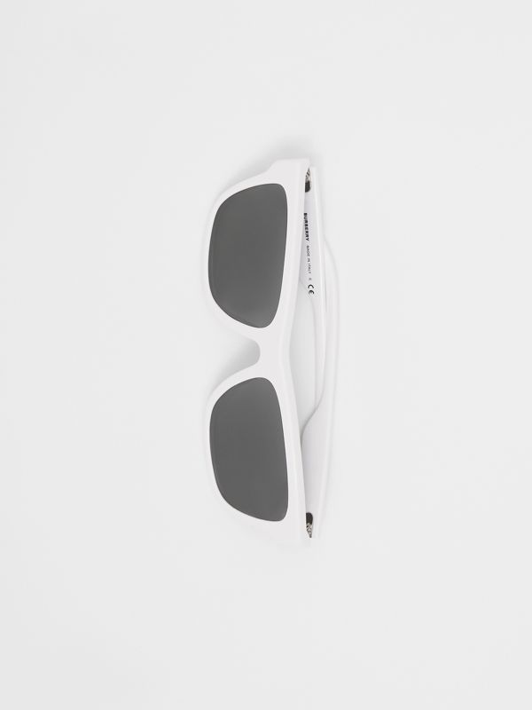 Square Frame Sunglasses in White - Men | Burberry United States - cell image 3