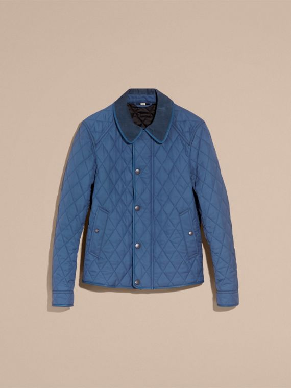 Diamond Quilted Jacket with Leather Trim - cell image 3