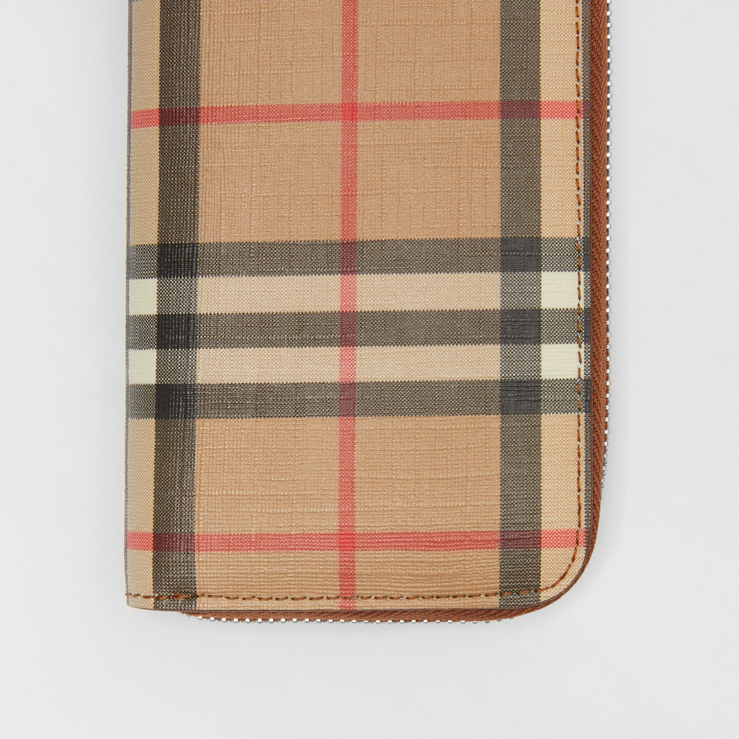 Vintage Check and Leather Ziparound Wallet in Malt Brown - Women | Burberry - 2