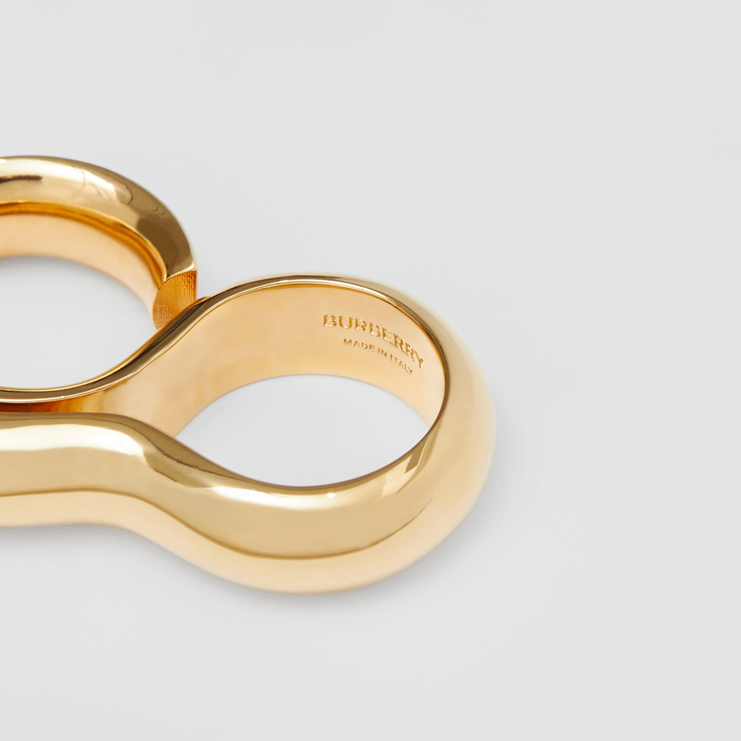 Gold-plated Keyhole Double Ring in Light | Burberry - 2