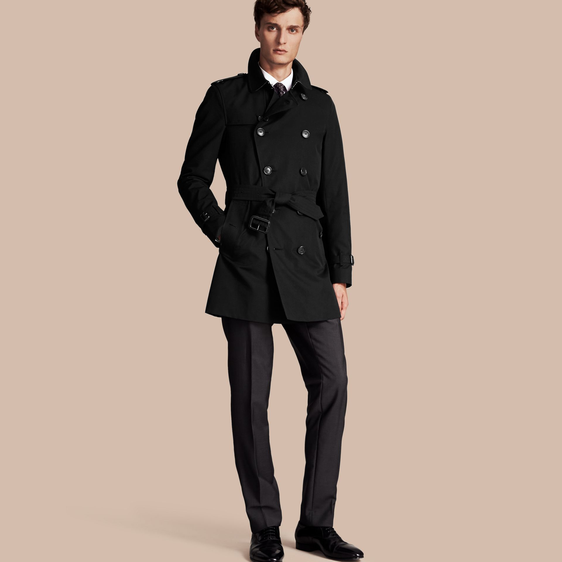 Noir The Sandringham – Trench-coat Heritage mi-long Noir - photo de la galerie 1