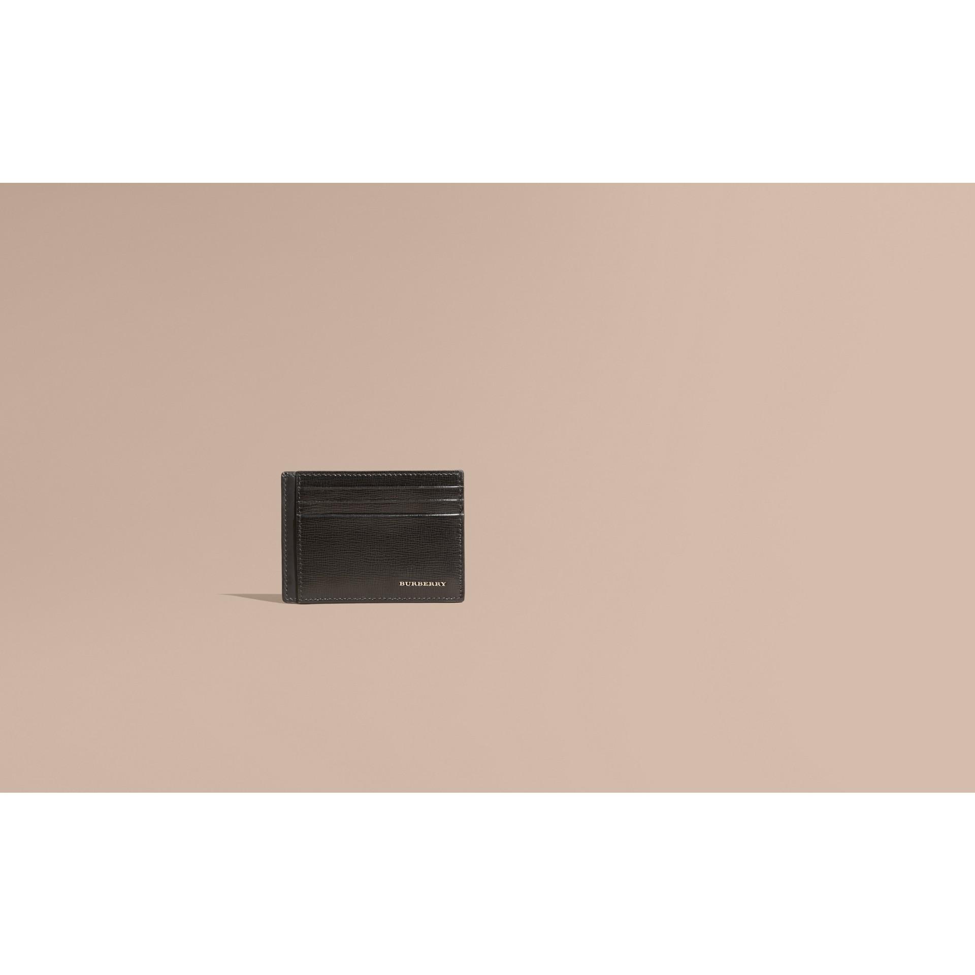 Noir Porte-cartes en cuir London Noir - photo de la galerie 2