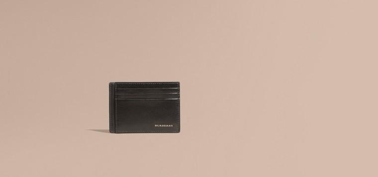 Noir Porte-cartes en cuir London Noir - cell image 1
