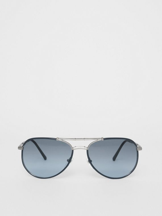 Folding Pilot Sunglasses in Navy