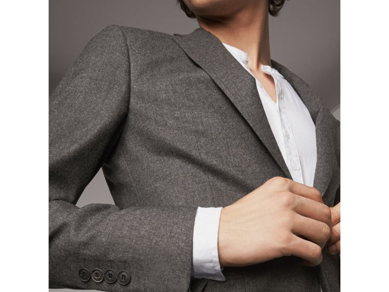 Soho Fit Wool Flannel Suit in Dark Charcoal Melange - Men | Burberry Canada - cell image 1