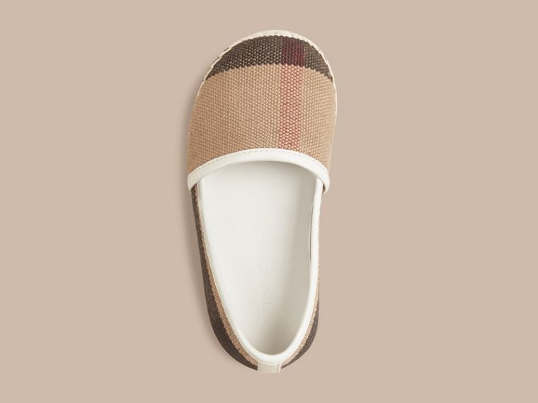 Off white Canvas Check Espadrilles - cell image 1