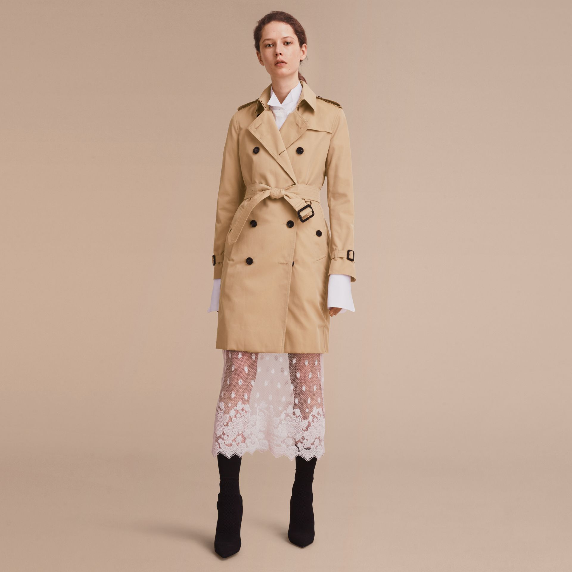 Honey The Kensington – Long Heritage Trench Coat Honey - gallery image 8