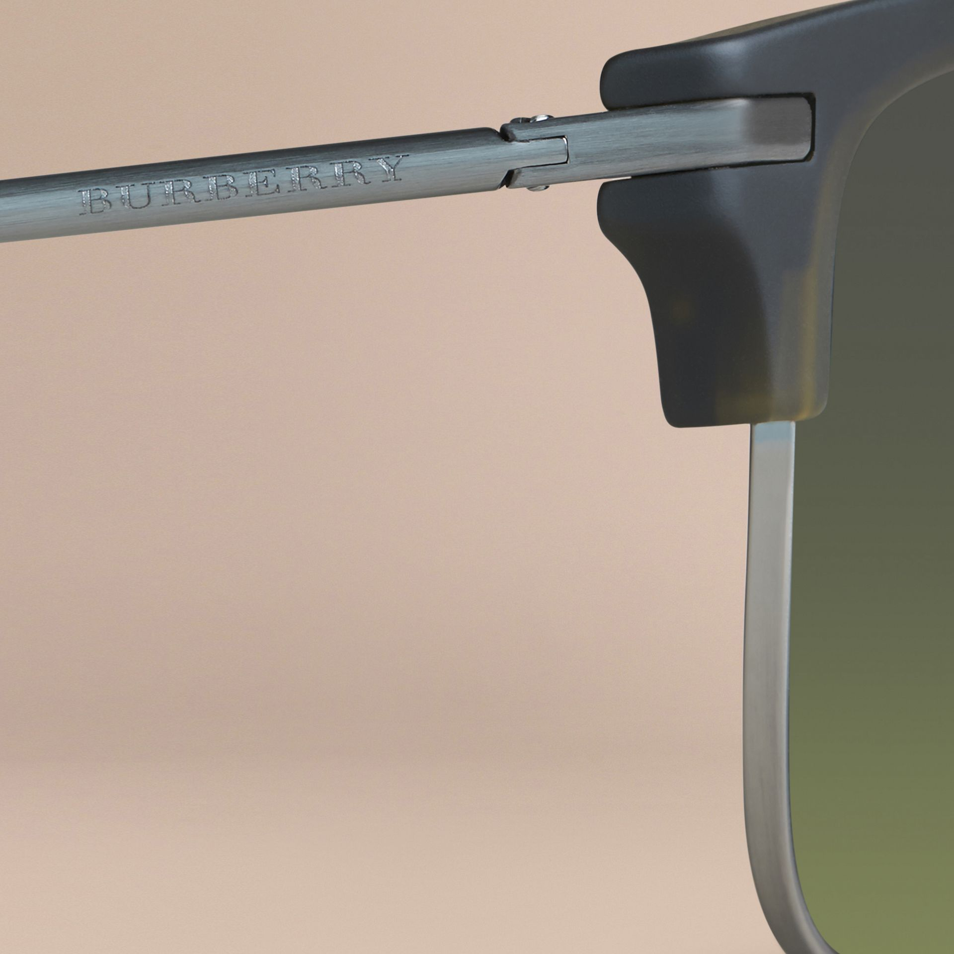 Square Frame Sunglasses Olive - gallery image 2