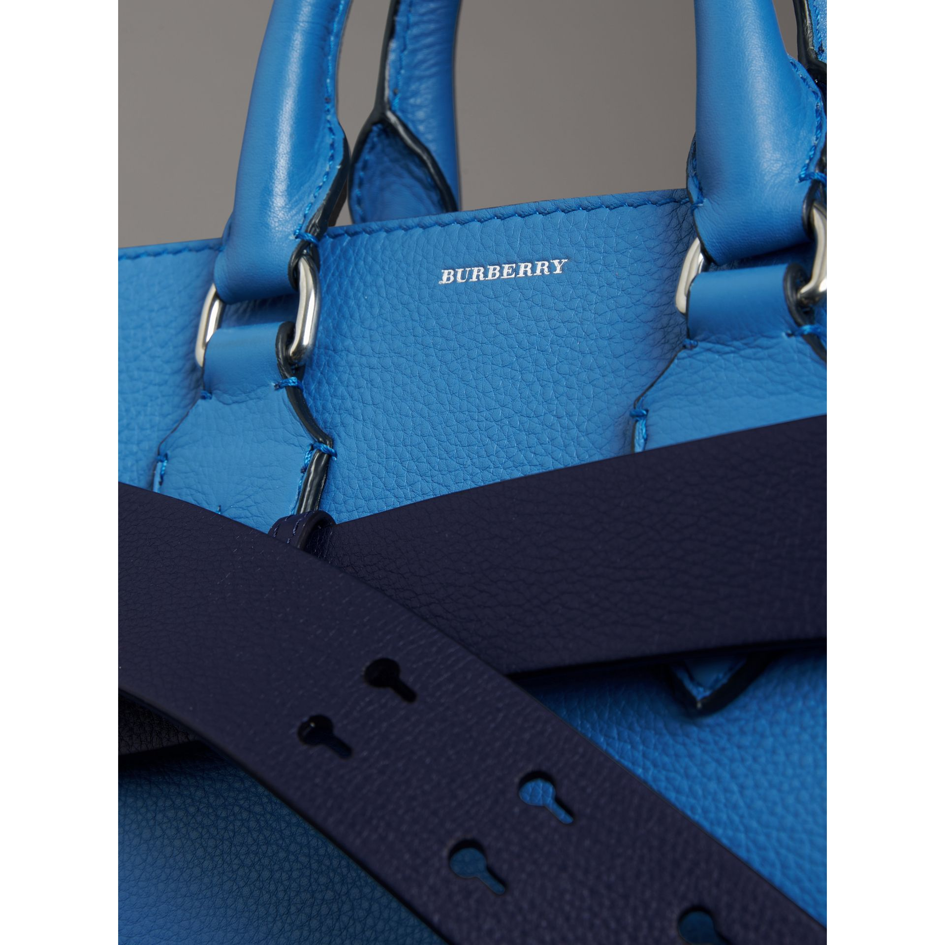 The Small Leather Belt Bag in Hydrangea Blue - Women | Burberry Singapore - gallery image 1