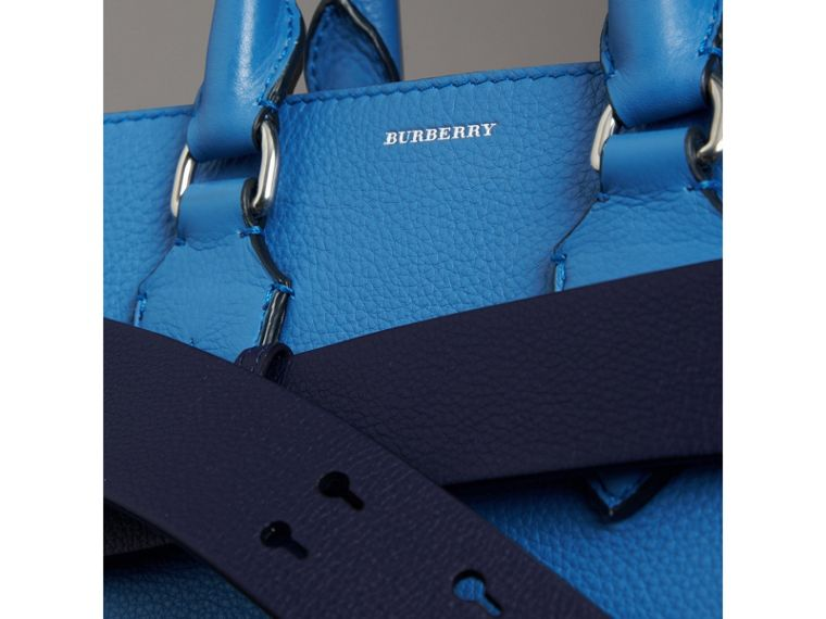 The Small Leather Belt Bag in Hydrangea Blue - Women | Burberry - cell image 1