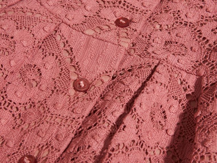 Antique rose English Lace A-line Dress - cell image 1