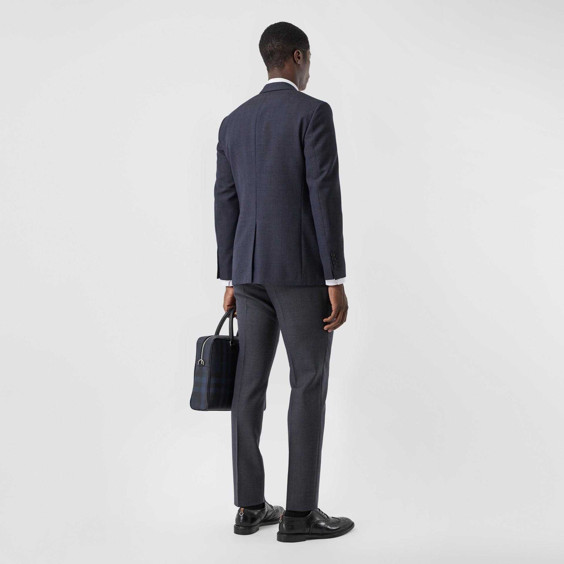 Slim Fit Wool Suit in Navy - Men | Burberry Australia - gallery image 2