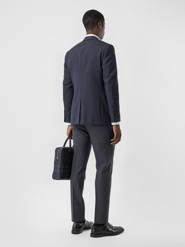Slim Fit Wool Suit in Navy - Men | Burberry Australia - cell image 2