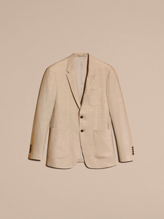 Modern Fit Travel Tailoring Linen Cashmere Wool Suit - Men | Burberry - cell image 3
