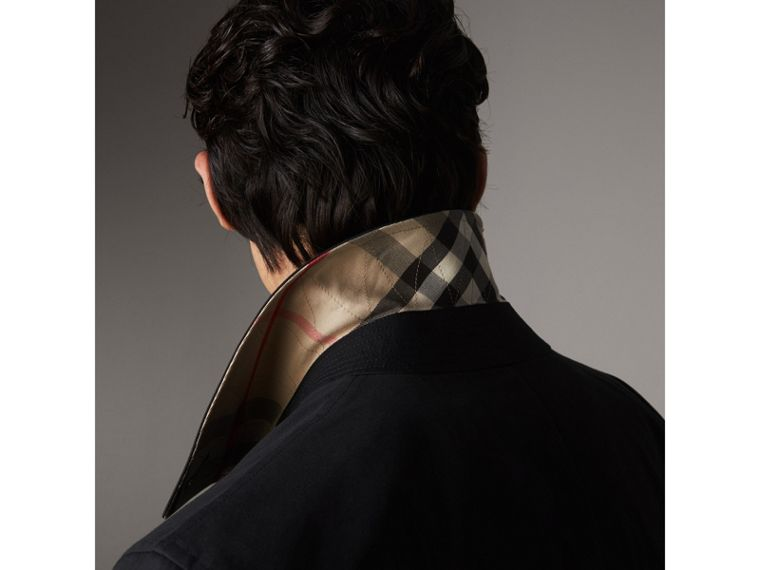 Resin Button Cotton Gabardine Car Coat - Men | Burberry Canada - cell image 1
