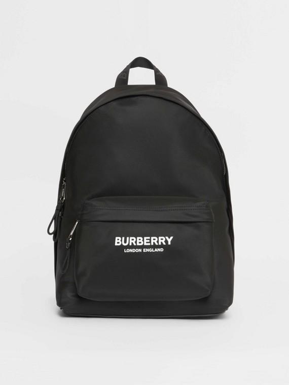 Рюкзак из нейлона с принтом Burberry (Черный)