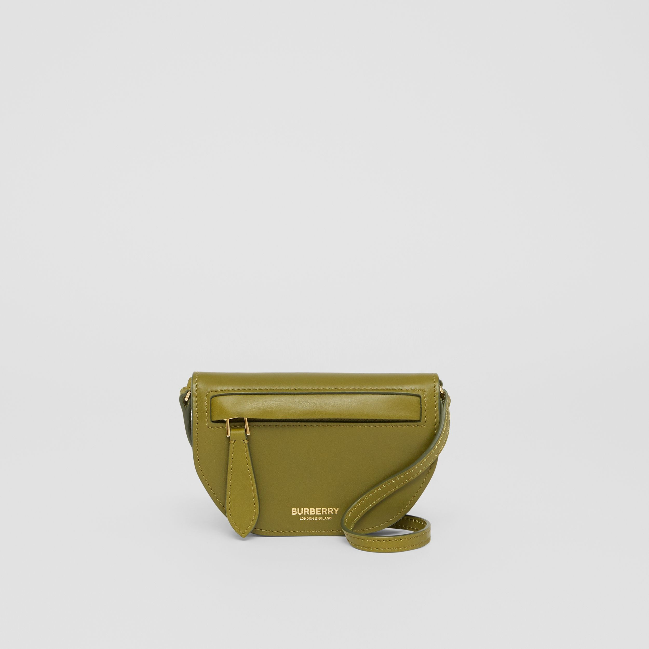 Leather Olympia Card Case with Detachable Strap in Juniper Green | Burberry Hong Kong S.A.R. - 1