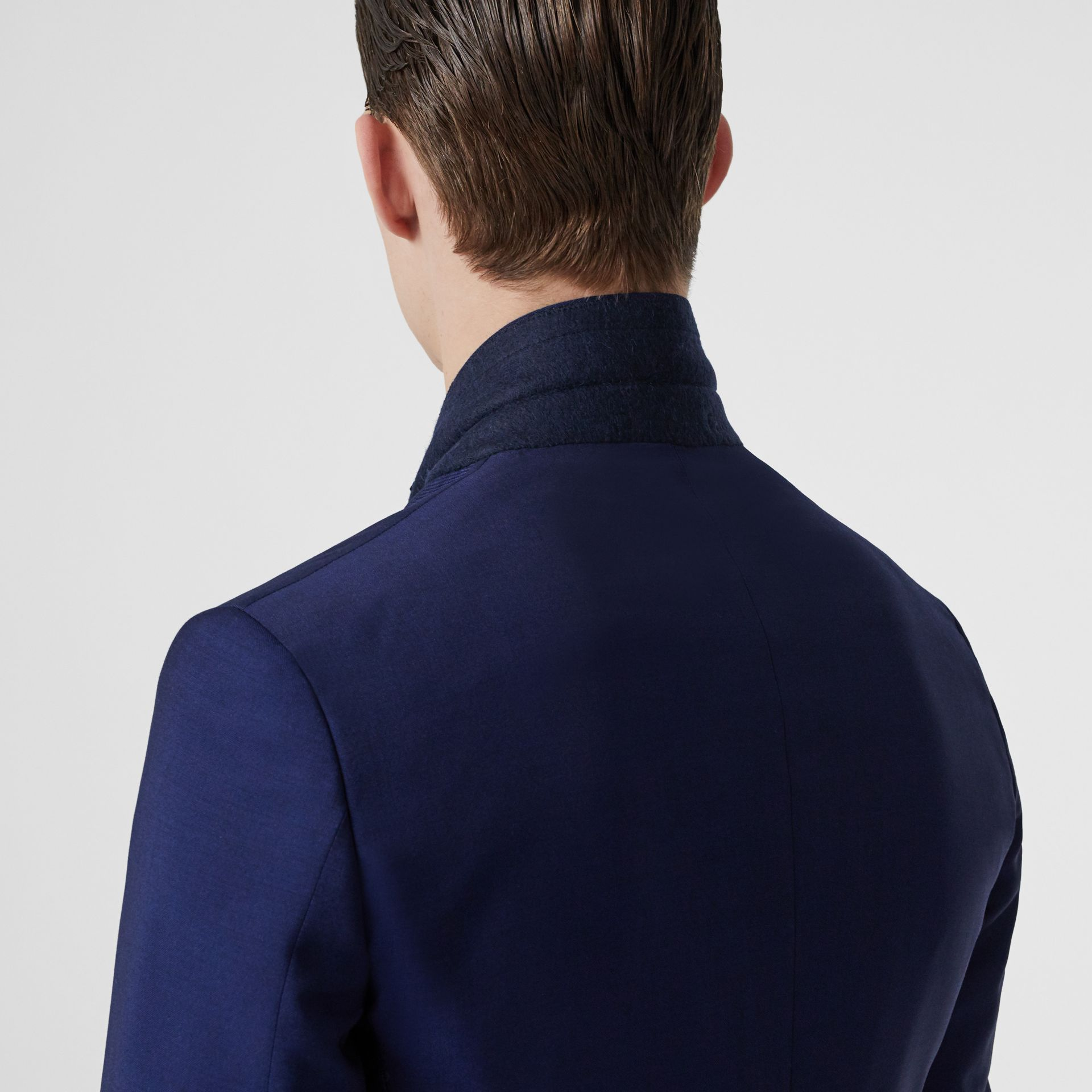 Slim Fit Wool Mohair Suit in Navy - Men | Burberry Singapore - gallery image 4