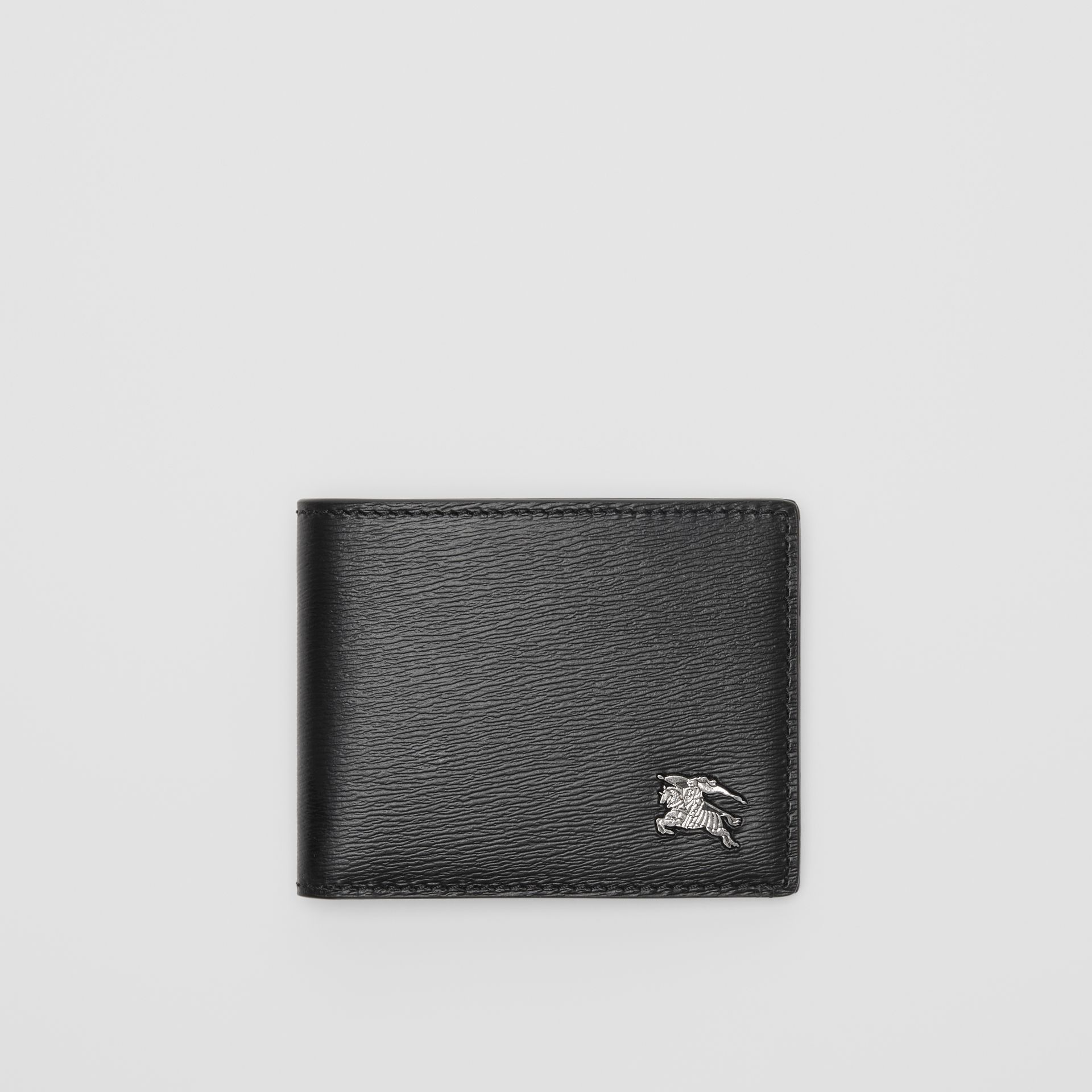 London Leather Bifold Wallet in Black - Men | Burberry Australia - gallery image 0