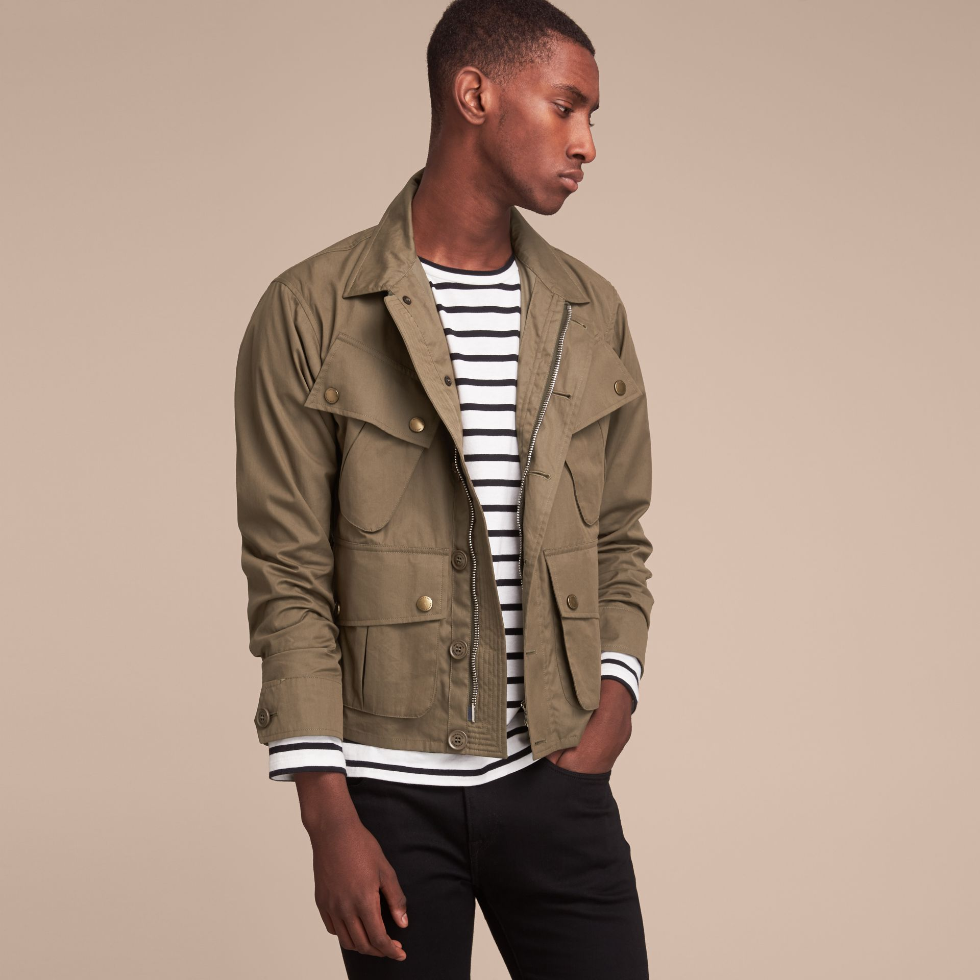 Technical Cotton Canvas Field Jacket - gallery image 7