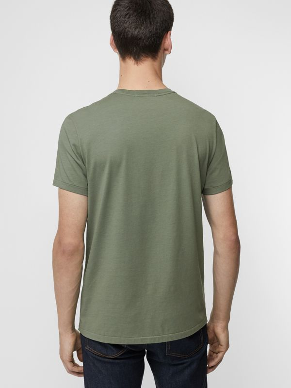 Cotton T-shirt in Clay Green - Men | Burberry Hong Kong - cell image 2