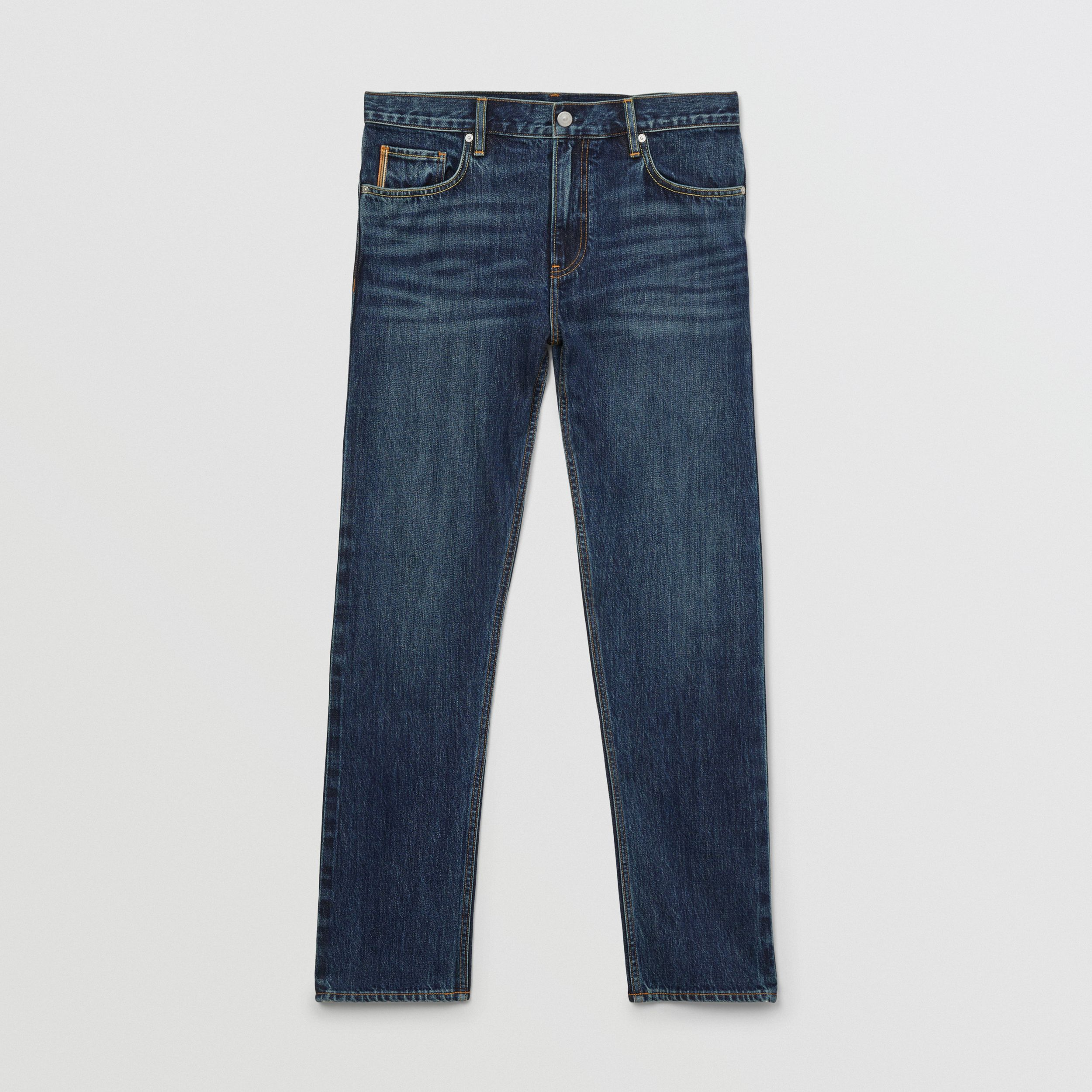 Straight Fit Japanese Selvedge Denim Jeans - Men | Burberry - 4