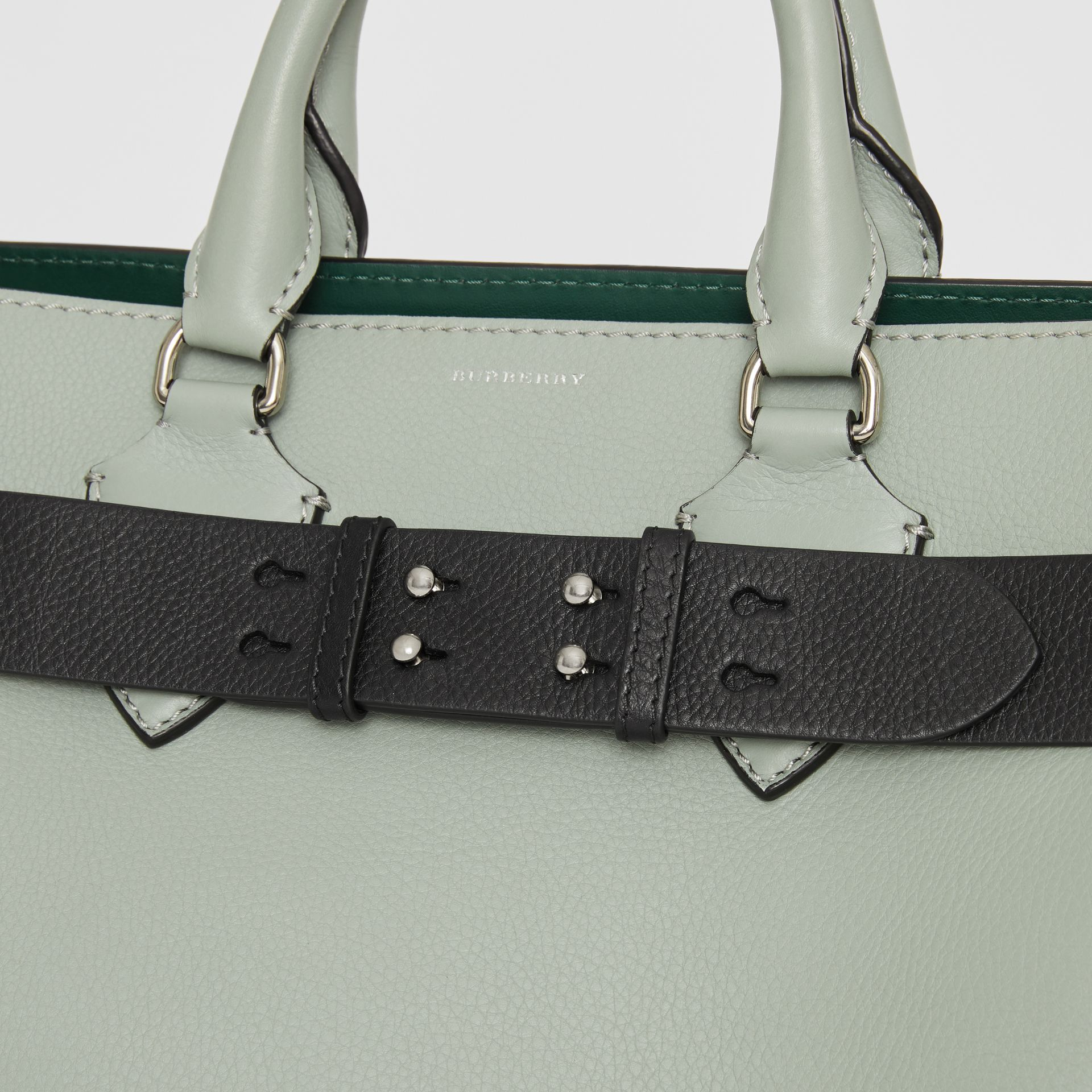 The Medium Belt Bag Grainy Leather Belt in Black - Women | Burberry Singapore - gallery image 1