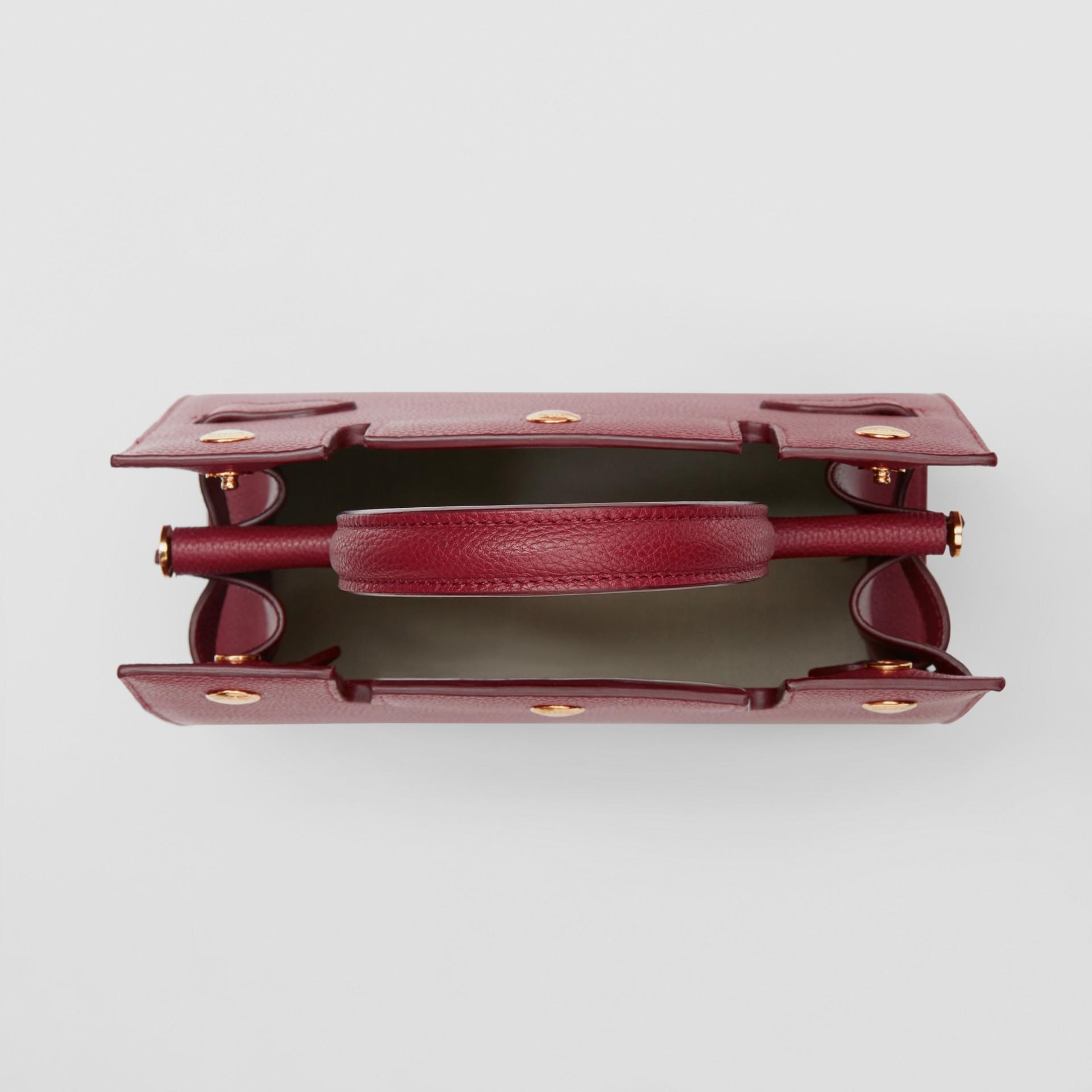 Mini Leather Title Bag in Dark Crimson - Women | Burberry United Kingdom - gallery image 4
