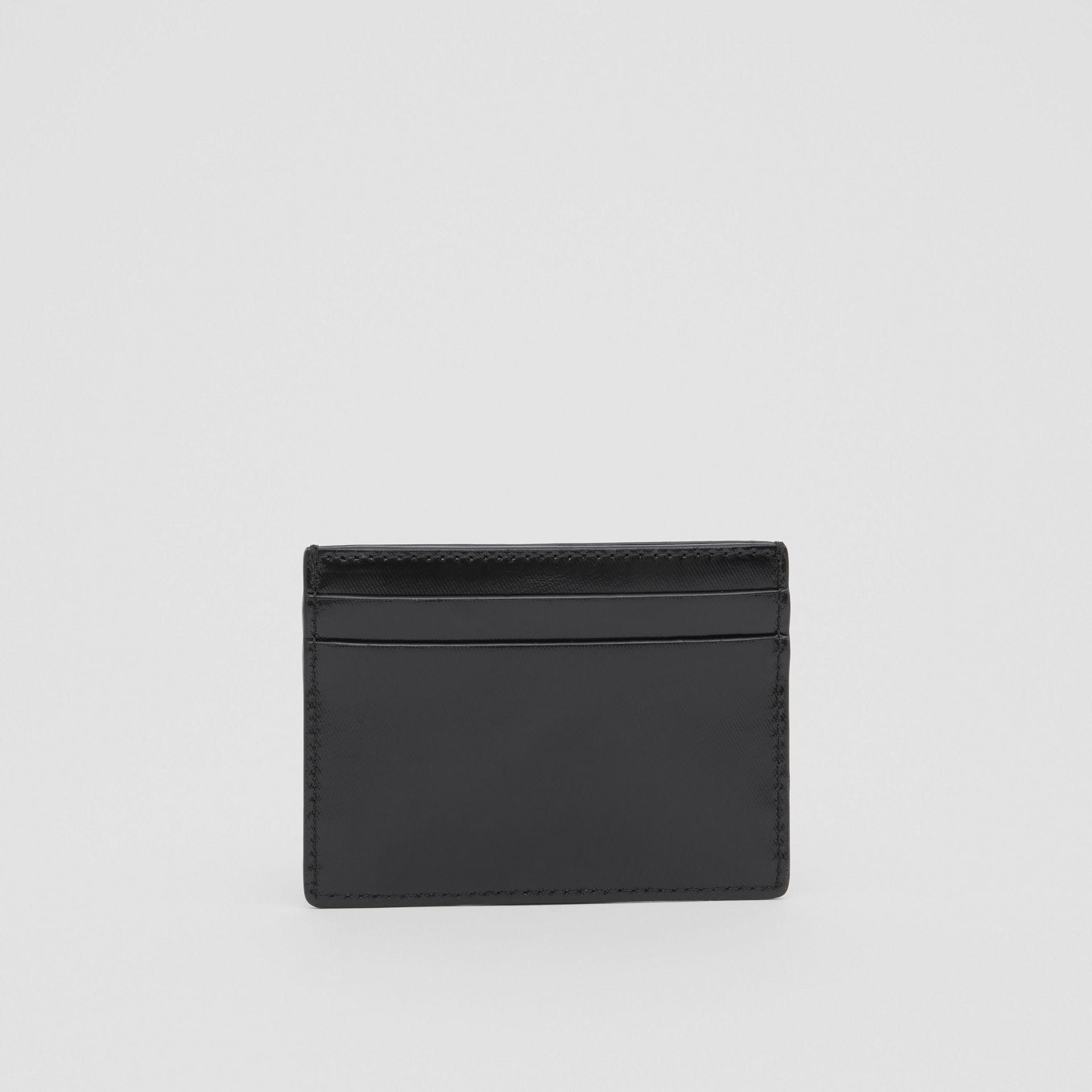 Logo and Icon Stripe Print Coated Canvas Card Case in Black | Burberry United Kingdom - gallery image 4
