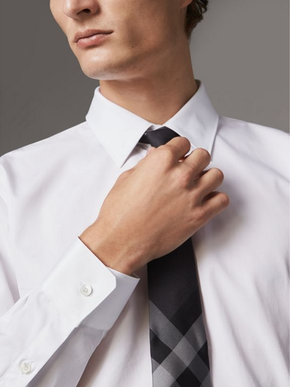 Modern Fit Cotton Poplin Shirt in White - Men | Burberry - cell image 1