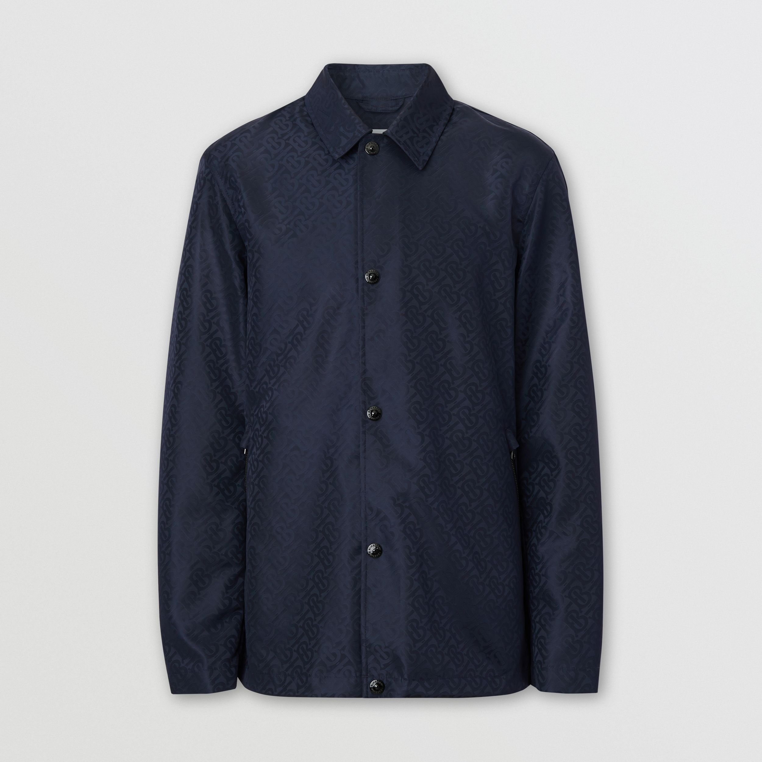 Monogram ECONYL® Jacket in Navy - Men | Burberry - 4