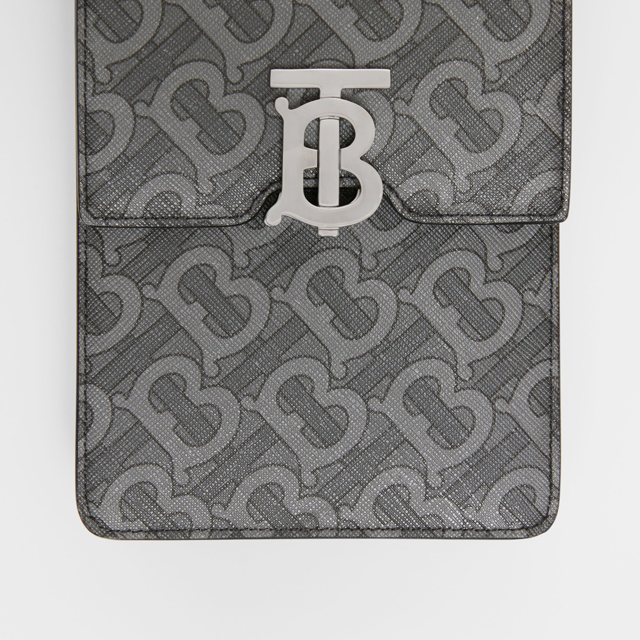 Monogram Print E-canvas Robin Bag in Charcoal/black - Men | Burberry - 2