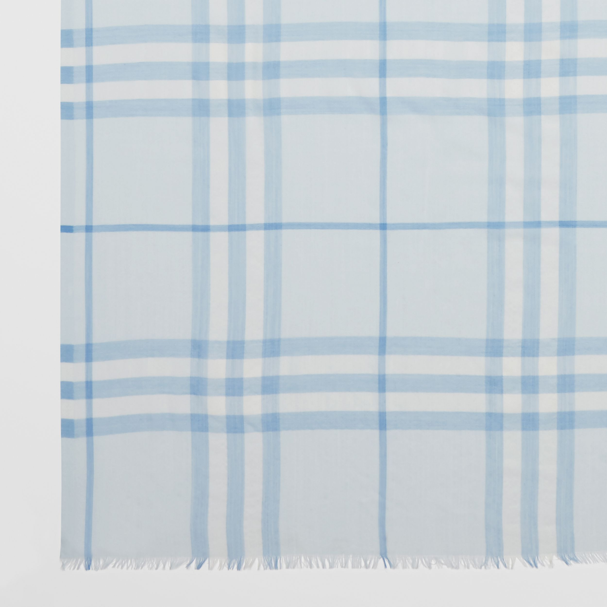 Lightweight Check Wool Silk Scarf | Burberry - 2