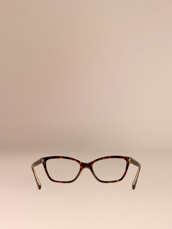 Check Detail Cat-eye Optical Frames Tortoiseshell - cell image 2