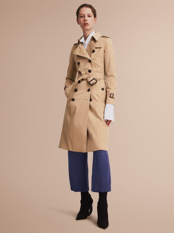 The Chelsea - Trench coat Heritage extra lungo (Miele) - Donna | Burberry