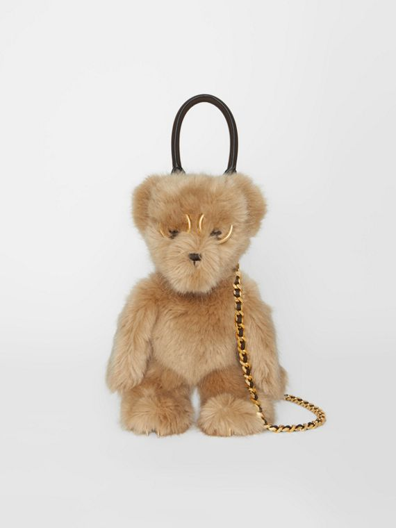 The Thomas Bear Shoulder Bag in Beige