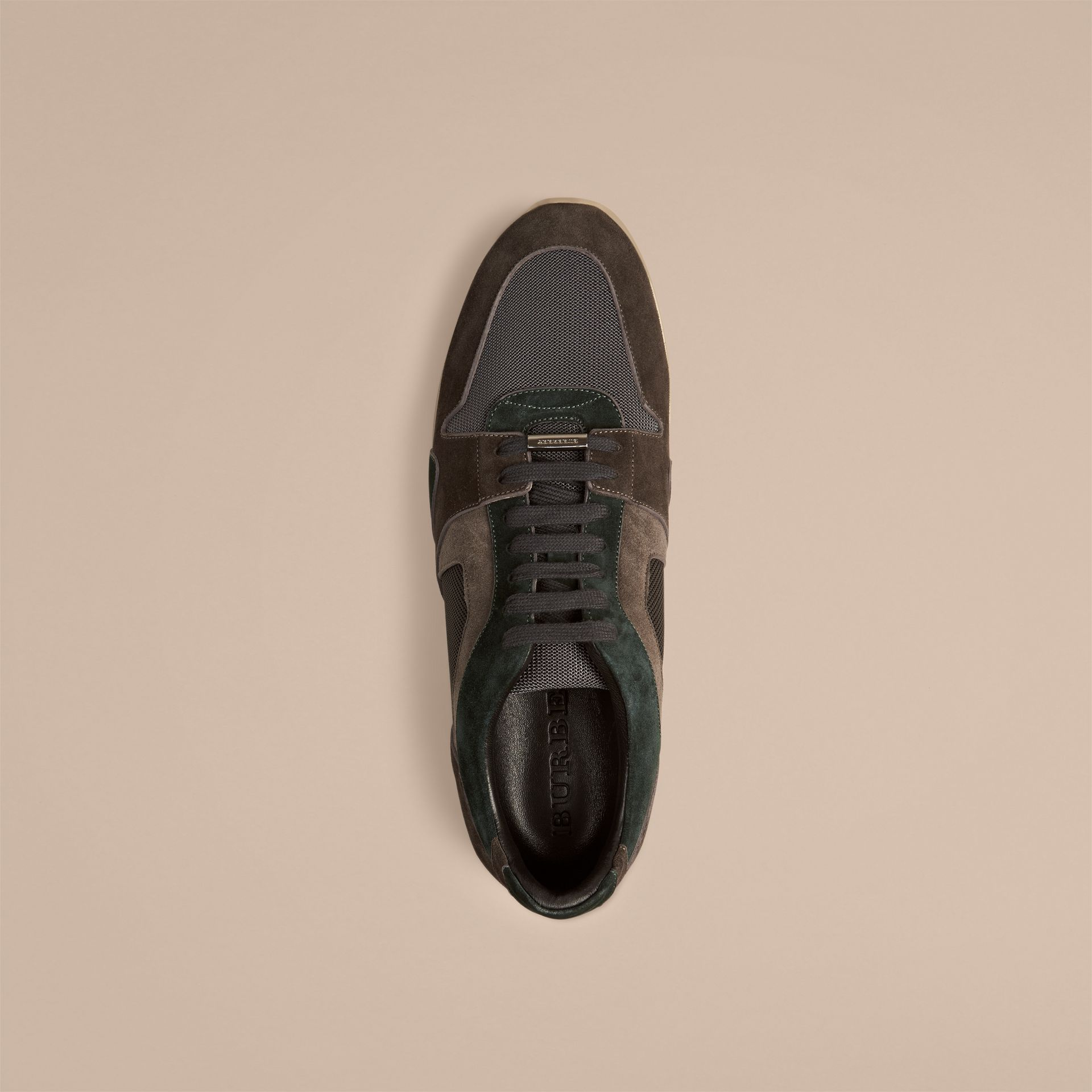 Dark storm grey The Field Sneaker in Colour Block Suede and Mesh Dark Storm Grey - gallery image 2