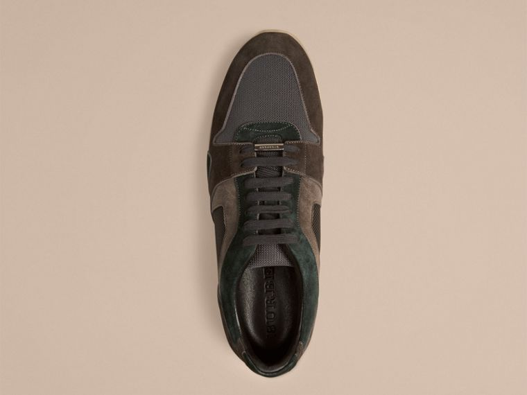 Dark storm grey The Field Sneaker in Colour Block Suede and Mesh Dark Storm Grey - cell image 1