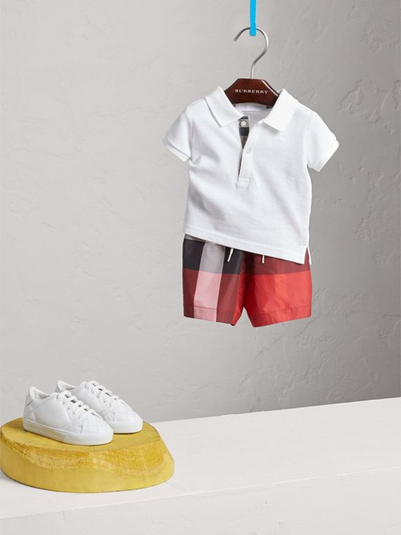 Check Swim Shorts in Parade Red | Burberry United States - cell image 2